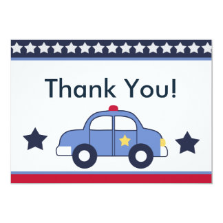Police Vehicle/Cop Car Hero Thank You Cards