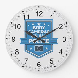 Police Wear Body Cameras Wall Clock