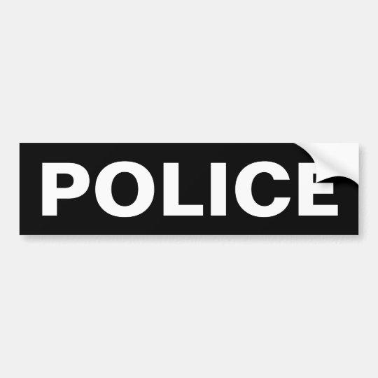 POLICE - White Logo Emblem Bumper Sticker