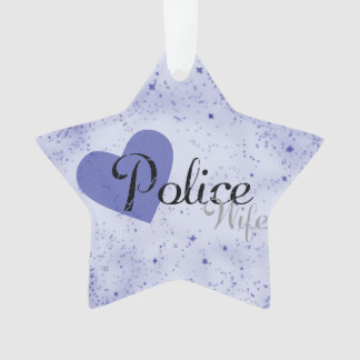 Police Wife Star Ornament