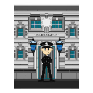 Policeman and Police Station Flyer