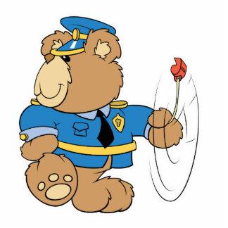 Policeman Cop Bear Photo Sculpture