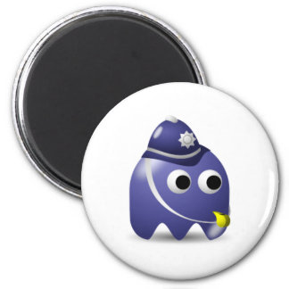 Policeman Game Icon 6 Cm Round Magnet
