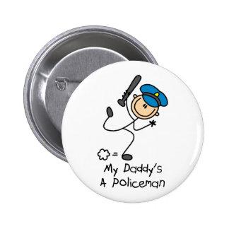 Policeman Gift 6 Cm Round Badge
