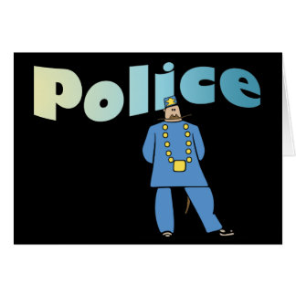 Policeman in Uniform Greeting Card