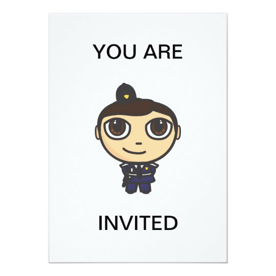 Policeman Invitation