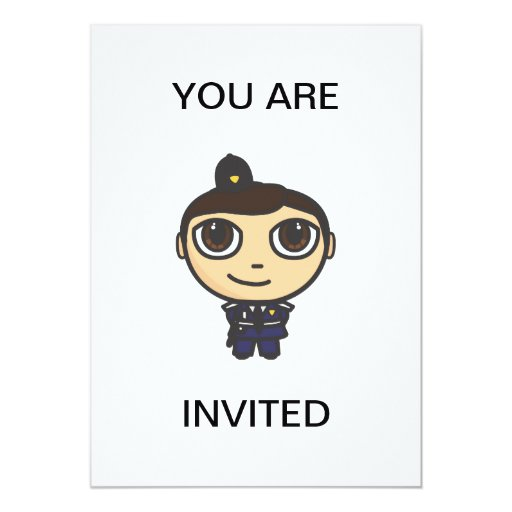 "Policeman Invitation 5"" X 7"" Invitation Card"