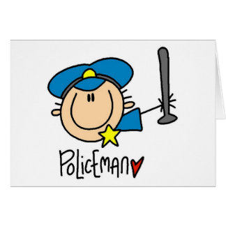 Policeman Occupation Greeting Card
