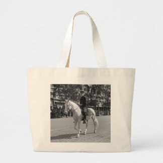 Policeman on White Horse, 1921 Tote Bags