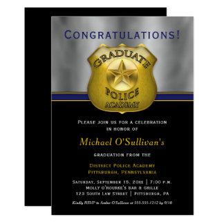Policeman Police Cop Graduation Announcement Party
