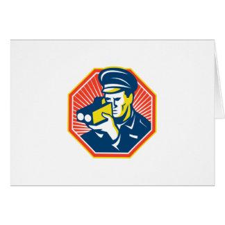 Policeman Police Officer Speed Camera Radar Greeting Card