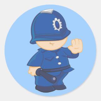 Policeman Round Sticker