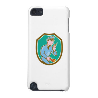 Policeman Torch Radio Shield Cartoon iPod Touch (5th Generation) Cover