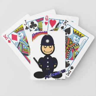 Policeman (with logos) bicycle playing cards