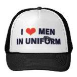 POLICEMEN IN UNIFORM TRUCKER HATS
