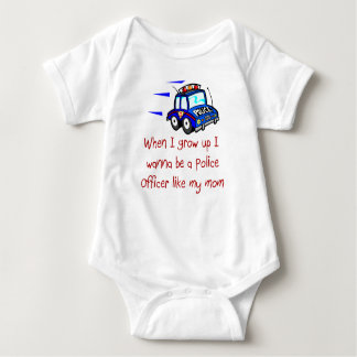 Policer Officer Like My Mom Baby T-Shirt
