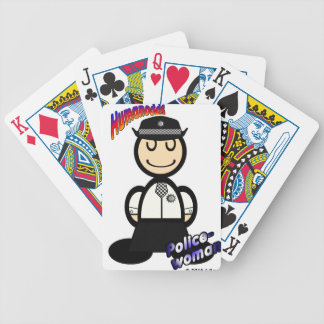 Policewoman (with logos) bicycle playing cards