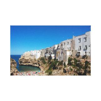 Polignano Mare Bari Italy beach landmark architect Canvas Print