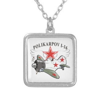 polikarpov i-16 silver plated necklace