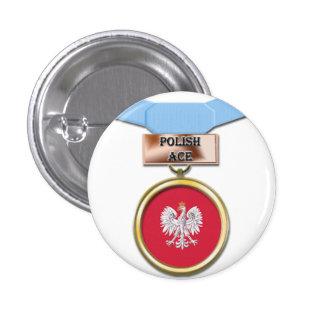 Polish Ace medal button
