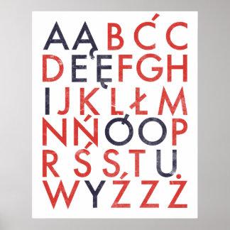 Polish Alphabet Poster