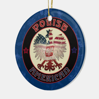 Polish America Eagle Christmas Ornament
