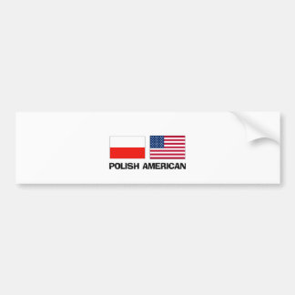 Polish American Bumper Sticker