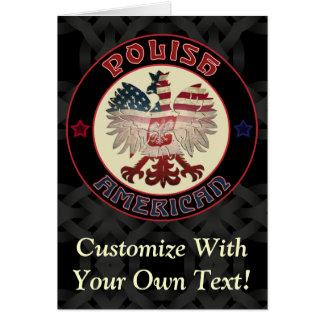 Polish American Eagle Greetings Greeting Card