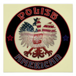 Polish American Eagle Poster
