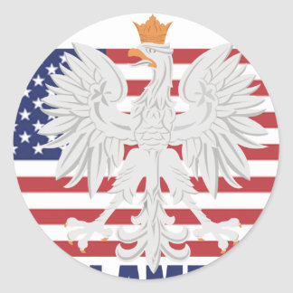 Polish American Sticker