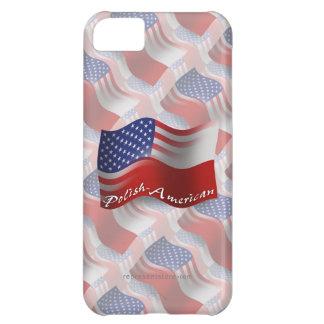Polish-American Waving Flag iPhone 5C Cases