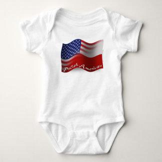 Polish-American Waving Flag T-shirts