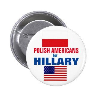 Polish Americans for Hillary 2016 6 Cm Round Badge