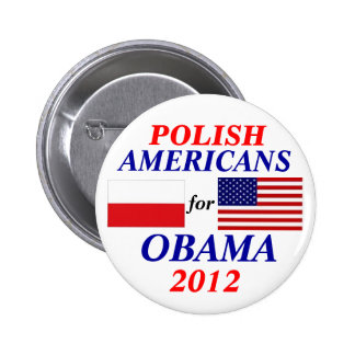 Polish americans for Obama 6 Cm Round Badge