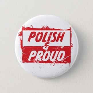 Polish and Proud 6 Cm Round Badge