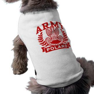 Polish Army Sleeveless Dog Shirt