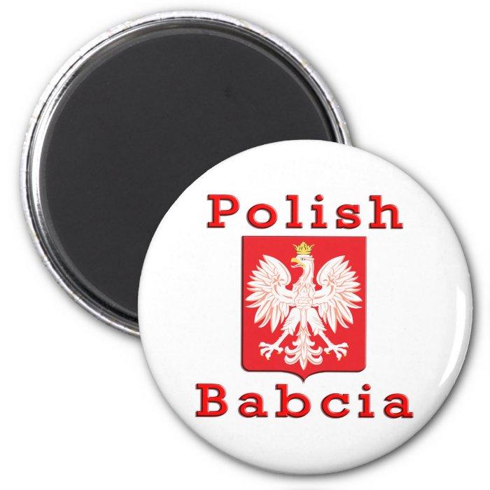 Polish Babcia Eagle 6 Cm Round Magnet