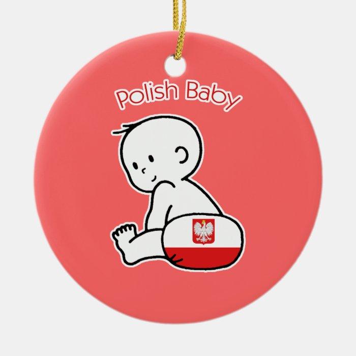 Polish Baby Round Ceramic Decoration