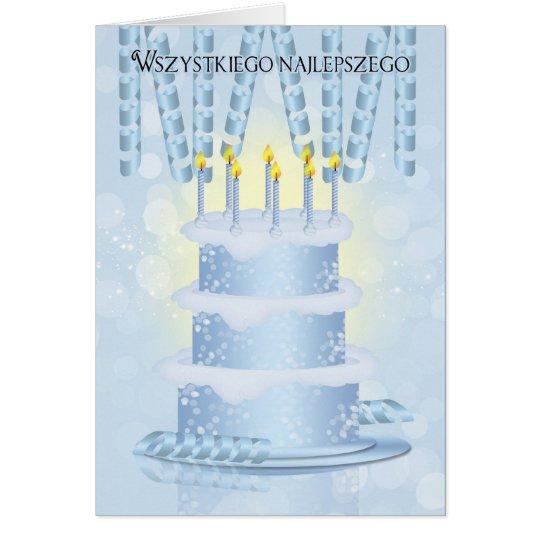 Polish Birthday Cake And Candles Card