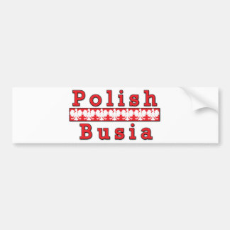 Polish Busia Eagles Bumper Sticker