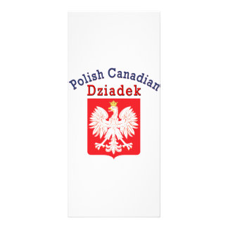 Polish Canadian Eagle Shield Dziadek Rack Card Template
