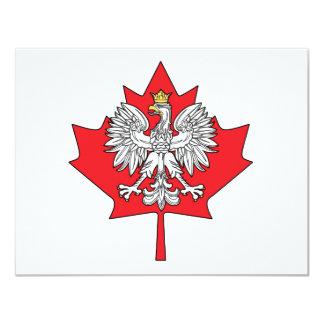 Polish Canadian Maple Leaf 11 Cm X 14 Cm Invitation Card