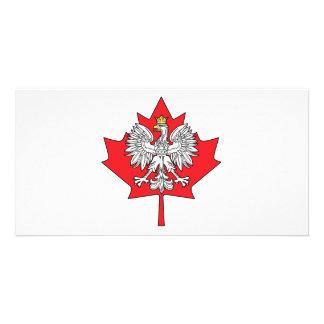 Polish Canadian Maple Leaf Photo Greeting Card