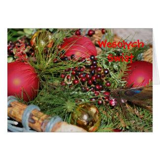 Polish Christmas Card Elegant Decorations