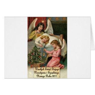 POLISH CHRISTMAS DESIGNS 2 GREETING CARD