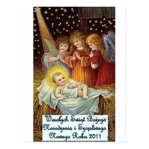 POLISH CHRISTMAS DESIGNS 2 POSTCARD