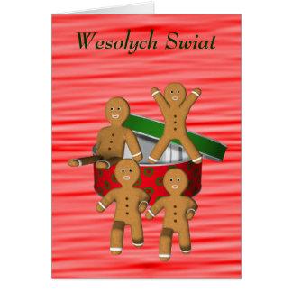 Polish Christmas Greeting Card Gingerbread Men