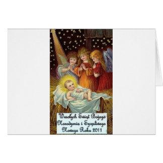 POLISH CHRISTMAS ITEMS WESOLYCH SWIAT CARD