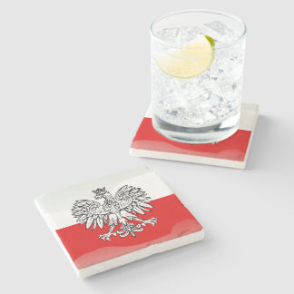 Polish Coat of arms Stone Coaster