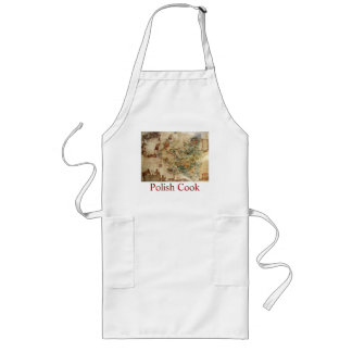 POLISH COOK APRON WITH MAP OF POLAND